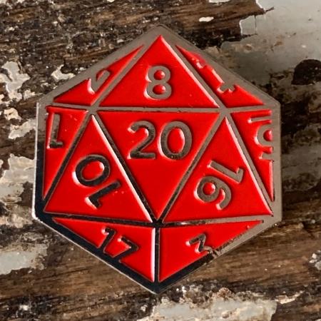 d20 Natural 20 Pin
