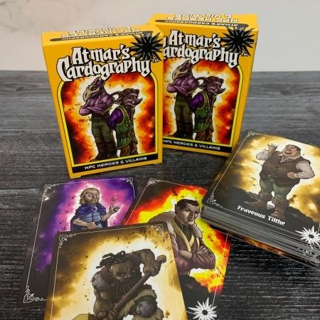 Cardography NPCs Heroes & Villains