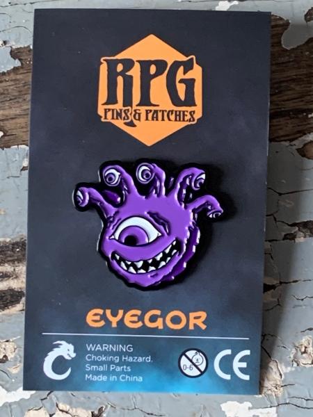 Purple Eyegor Enamel Pin Carded