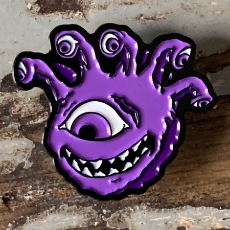 Purple Eyegor Enamel Pin