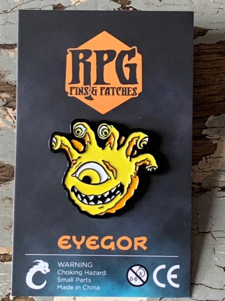 Lemon Yellow Eyegor Enamel Pin Carded