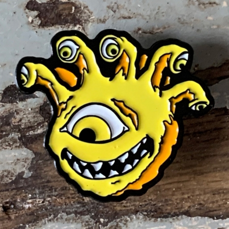 Lemon Yellow Eyegor Enamel Pin