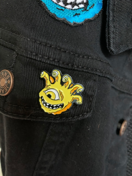 Lemon Yellow Eyegor Enamel Pin Jacket