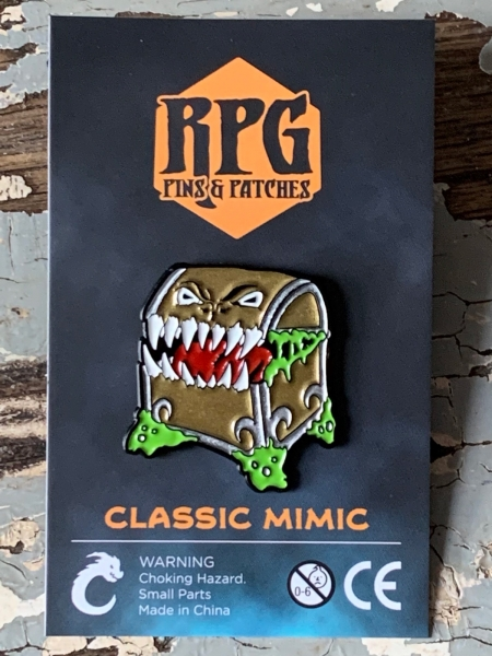 Mimic Enamel Pin in Classic Gold Carded