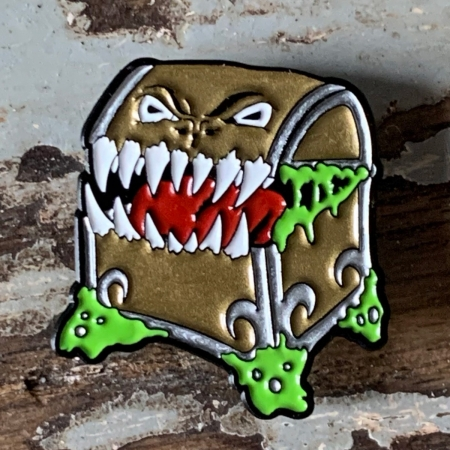Mimic Enamel Pin in Classic Gold